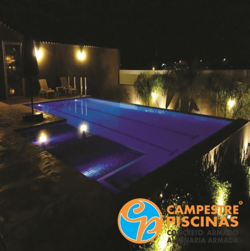 Piscina de Alvenaria com Azulejo Cajamar - Piscina de Alvenaria Estrutural