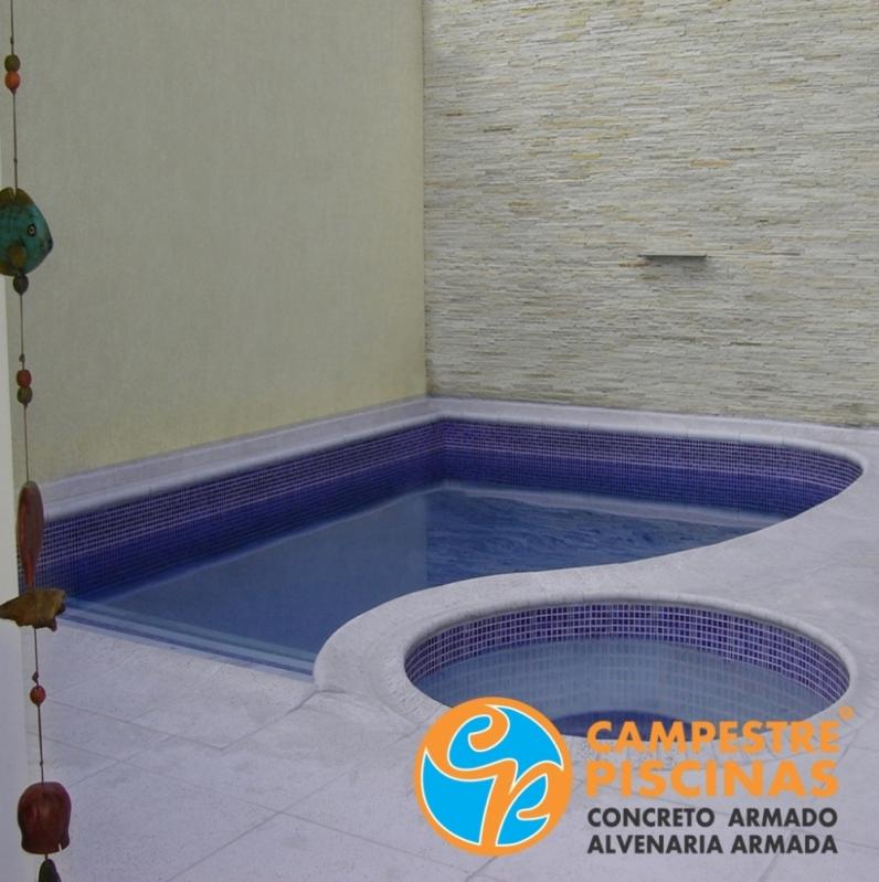Piscina de Alvenaria com Hidro Preço Jardim das Acácias - Piscina de Alvenaria com Hidro