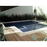acabamento de piscina com deck orçamento Cidade Patriarca
