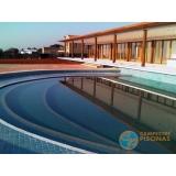 acabamento de piscina em madeira orçamento Caierias