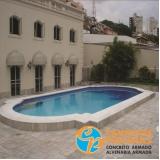 acabamento para borda de piscina de alvenaria Capela do Alto