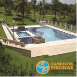 acabamento para piscina de alvenaria estrutural Valinhos
