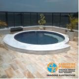 acabamento para piscina de alvenaria no terraço Analândia