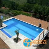 acabamento para piscina de fibra aquecida Araras