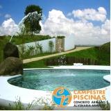 acabamento para piscina de vinil pequena Jardim Guedala