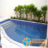 acabamento para piscinas pequenas preço Águas de Santa Bárbara