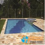 cascata de piscina alvenaria Pompéia