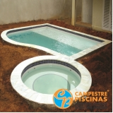 cascata de piscina com led Francisco Morato