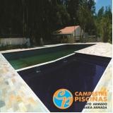 cascata de piscina de alvenaria preço Alambari