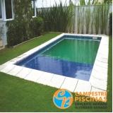 cascata de piscina de alvenaria Franca