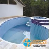 cascata de piscina de vidro Campo Grande