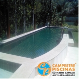 cascata de piscina na parede Jarinu