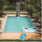 cascata de piscina em acrílico