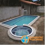 cascata piscina alumínio