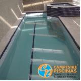 cascatas de piscina de vidro Charqueada
