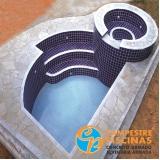 cascatas para piscina de alvenaria Santa Cruz das Palmeiras