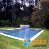 comprar cascata de piscina de canto Jardim Santa Helena