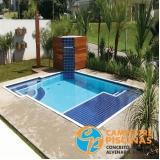 comprar cascata piscina alumínio valor Rio Grande da Serra