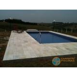 comprar piscina de fibra com borda sem fim preço São José do Rio Preto