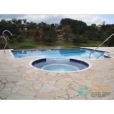 comprar piscina de fibra com sauna preço Santos