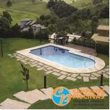 comprar piscina de vinil com borda infinita melhor preço Piracicaba