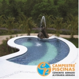comprar piscina de vinil com borda infinita Jardim Helian