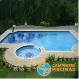 comprar piscina de vinil com deck Vila Romana