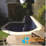 construção de piscina com vidro sob medida Vinhedo