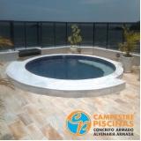 construção de piscina concreto sob medida Diadema