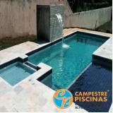construção de piscina de alvenaria com vinil Pardinho