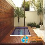 construção de piscina de alvenaria pequena Sumaré