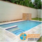 construção de piscina de alvenaria suspensa Capela do Alto
