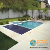 construção de piscina de fibra elevada Cesário Lange
