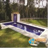 construção de piscina de fibra para apartamento Parque Peruche