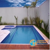 construção de piscina de fibra para sitio Itirapina
