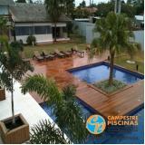 construção de piscina de fibra para terraço Cupecê