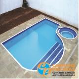 construção de piscina de pedra São Domingos