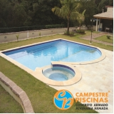 construção de piscina em clube sob medida Santo André