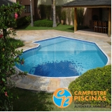 construção de piscina fibra sob medida Aricanduva