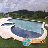 construção de piscina grande sob medida Bragança Paulista