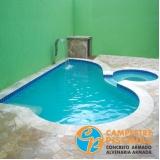 construção de piscina sob medida Taubaté