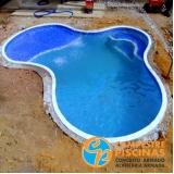 construção de piscina concreto