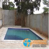construção de piscina em alvenaria