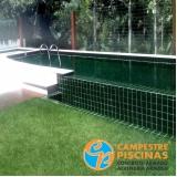 iluminação para piscina de alvenaria