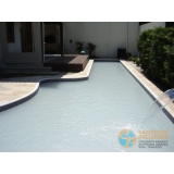 obra de acabamento de piscina borda Bauru