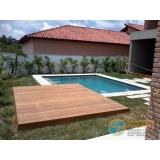 obra de acabamento de piscina com deck Santos