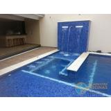 obra de acabamento de piscina com piso Brooklin