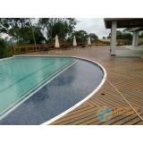 obra de acabamento para borda de piscina de vinil Rio Grande da Serra