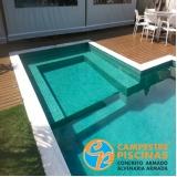 onde encontro piscina de concreto com deck para sítio Mauá
