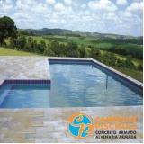 pedras para beira de piscina orçar Vila Mazzei